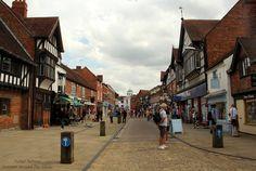 Stratford-upon-Avon, Warwickshire, market street