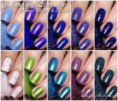 Colors by Llarowe - Summer Collection 2014 - micro-glitters and shimmers - swatches and review     Sassy Shelly
