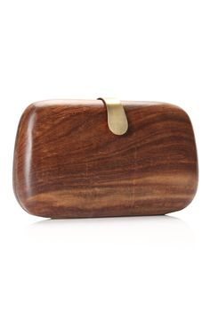 WOOD BOX CLUTCH by french connection