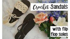 Crochet Sandals using Flip Flop Soles   Sewrella