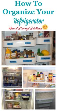 Real life ideas and solutions for how to organize your refrigerator {on Home Storage Solutions 101}