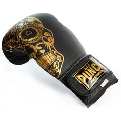 Limited Edition Trophy Getters® Boxing Gloves   Punch Equipment® Gold Boxing Gloves, Boxing Boots, Boxing Wraps, Cowhide Leather, Black Leather, Fight Gym, Metal On Metal, Bare Knuckle, Gold Skull