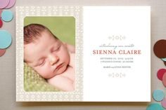 Sweet Baby Birth Announcements by lena barakat at minted.com