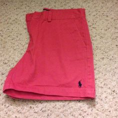 Ralph Lauren Polo Sport Chino Shorts Perfect pre-owned condition, only worn once, Nantucket red shorts with navy blue polo logo. No trades (cheaper on eBay and ♏️) Ralph Lauren Shorts