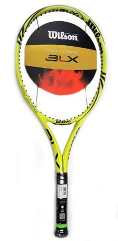 Wilson BLX PRO Cobra Tennis Racquet 4 1/2 by Wilson. $139.95. This racquet is unstrung.    This model includes a full racquet cover.  Wilson's BLX Pro Cobra is part of their European model series. It features an aerodynamic frame for generating fast swing speeds. This racquet has a very positive swing weight with good plough through and excellent spin generating potential. The 100 sq. inch head size provides a generous sweet spot. The yellow frame with black graphics is...