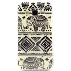 G360 Case, Gift_Source- Tribal Elephant Silicone Case Soft TPU Case Slim Soft Nature TPU Scratch-Proof Case for Samsung Galaxy Core Prime G360 / Prevail LTE ,Sent Stylus Pen