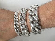 FANS JEWELRY Huge 20mm Mens Stainless Steel Cuban Link Curb Chain Bracelet or Necklace