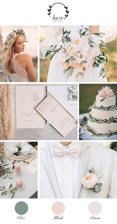 Blush and Olive Wedding Inspiration for Summer Wedding – Heili Bridal