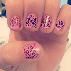 OPI's #NickiMinaj, pink Friday with leopard print!