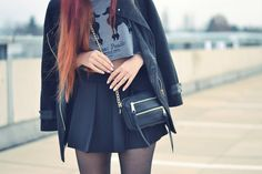 Outfit Details: Crop-Top, Skorts, little Bag, Rings, Hair, Fashion, Style, Blogger