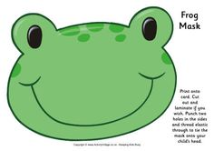Frog mask printable. Click through to the website for the printable.