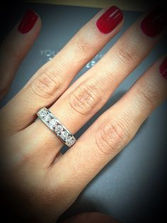 Our Rae half eternity ring featuring 1.50CT of dazzling diamonds #thediamonstoreuk #diamonds #ring #sparkle #jewellery #eternityring #wedding