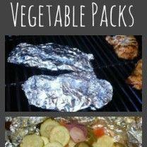grilled vegetables packet Collage