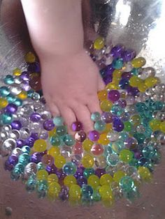 """Water beads"" - a fun and cheap sensory play idea