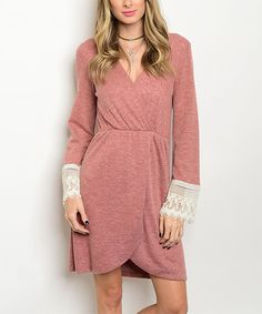 Look at this 24 7 Frenzy Brick Crochet-Trim Tulip Dress on #zulily today!
