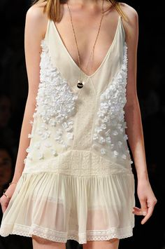 I love this but really, I could make the white flowers with the coffee filter flower thing on pinterest!!   Blugirl Spring-Summer 2013