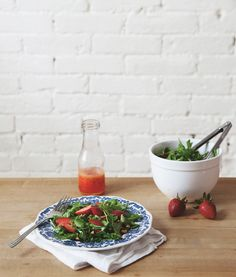 Strawberry Salad With Arugula & Honey Lemon Dressing | Free People Blog #freepeople