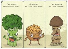 Broccoli vs. Walnut vs. Mushroom