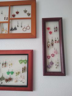 Have you considered arranging your most exciting jewelry on a frame so you can enjoy it even when you're not wearing it?