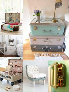 ols fashioned suitcase reuse - love these......I want these as a nightstand!