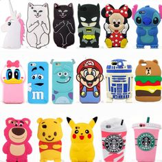 New-Cute-3D-Cartoon-Animal-Soft-Silicone-Phone-Case-Cover-Back-Skin-For-iPhone