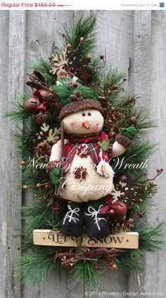 ON SALE Christmas Wreath Holiday Wreath by NewEnglandWreath