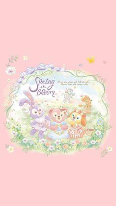 Cartoon Wallpaper Iphone, Bear Wallpaper, Disney Wallpaper, Hd Wallpapers For Mobile, Simple Wallpapers, Duffy The Disney Bear, Disney Love, Disney Illustration, Disney Cookies