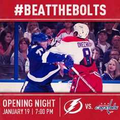 Help us #BeatTheBolts in the Opening Night Hashtag Battle! Repin this if you can't wait for Saturday night!