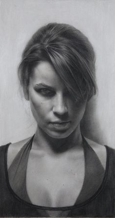 """Laura Genne"" (2010), by David Jon Kassan. Charcoal on hahnemuhle paper"