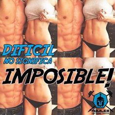 Difícil no significa IMPOSIBLE!!!    Sin motivación, no hay sacrificio,   Sin sacrificio no hay disciplina,  Y sin disciplina no hay ÉXITO!!    Ven entrena con nosotros en #AquilesFTCuenca      #Entrenamiento #Fitness #Fit #FitnessAddict #FitSpo #Workout #BodyBuilding #Cardio #Train #Training #Health #PostWorkout #InstaHealth #Active #Strong #Motivacion #TeamAquiles #MatesAquiles