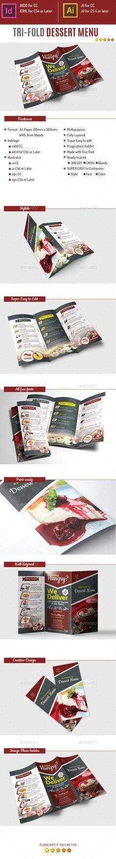 Sweets Dessert Restaurant Menu Desserts, Dessert restaurants and - dessert menu template