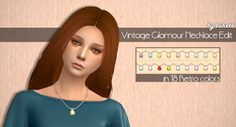 Vintage Glamour Necklace Edit• My mesh edit • Custom icon thumbnail • Standalone • 9 EA colors • 25 Spooky colors by @spooky-sims • 18 Aelia Retro colors • 52 swatches in total Vintage Glamour SP...