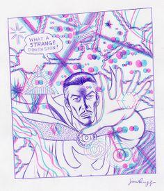 Doctor Strange 3D by jimrugg, via Flickr