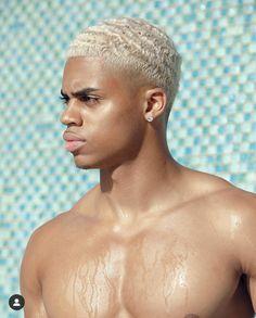 Trending Hairstyles For Men, Cute Hairstyles For Medium Hair, Black Men Hairstyles, Boy Hairstyles, Waves Hairstyle Men, Waves Haircut, Dyed Hair Men, Men Blonde Hair, Mens Hair Colour