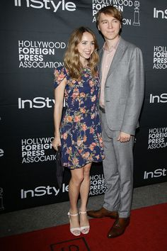 Zoe Kazan and Paul Dano at the HFPA & InStyle's 2014 TIFF celebration - TIFF Fashion