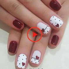 Red Nail Art, Cute Nail Art, Nail Art Diy, Pink Nails, Cute Nails, Pretty Nails, Nail Art Rose, Chevron Nails, Blue Nail