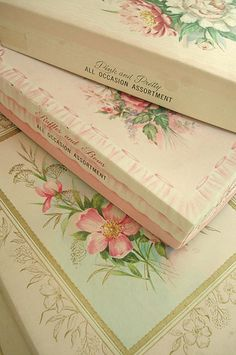 "Vintage boxes of stationary usually ""scented"""