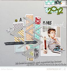 a boy and his tomahawk by just g at Studio Calico using the Block Party scrapbook kit and add ons