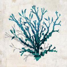 Cerulean Coral Wall Art