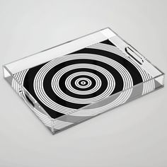 Ripples - Black & White Acrylic Tray by laec White Acrylics, Color Pop, Tray, Black And White, Store, Colour Pop, Black White, Storage, Business