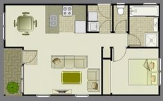 View the 1 bedroom unit granny flat - the master floor plan