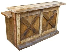 Old Fashioned Western Rustic Wood Bar Rustic Outdoor Furniture, Western Furniture, Recycled Furniture, Bar Furniture, Furniture Plans, Rustic Decor, Furniture Design, Modern Furniture, Antique Furniture
