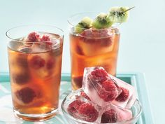 Very Berry Iced Tea..Just Add Your Favorite Rum.  http://www.bettycrocker.com/recipes/very-berry-iced-tea/9b38739c-2d76-403a-8d5d-4640cc06b95c
