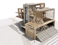 "Sam Kuhn, USF School of Architecture, Class of 2014 Core Design 1: ""Design 1 Final: Student Center"" - Fall 2010, Prof. Steve CookeThis site is located on the campus of USF, between two pre-existing dormatories. The buiding would function as a smal student union for the incoming freshman students."