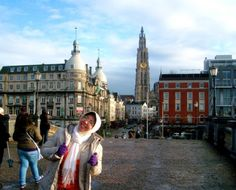From the riverbanks side to the stunning OLV cathedral - Antwerpen — in Belgium.