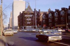 View looks east down W.Wisconsin Avenue into downtown in the 1960s.