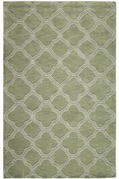 Cream And Sage Green Area Rug
