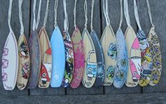 VW Bay Window Camper Van Wooden Mini Surfboard ... - Folksy
