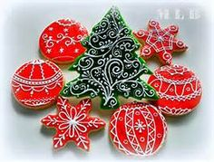 christmas cookies white with red - Yahoo Image Search Results