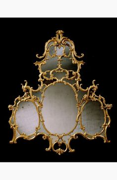 An Irish George III giltwood Chinoiserie style overmantel mirror from a grand house.